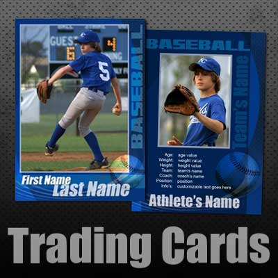 15 PSD Football Trading Card Images