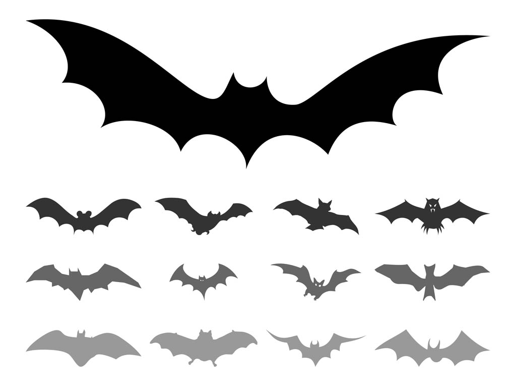 Bat Silhouette Vector