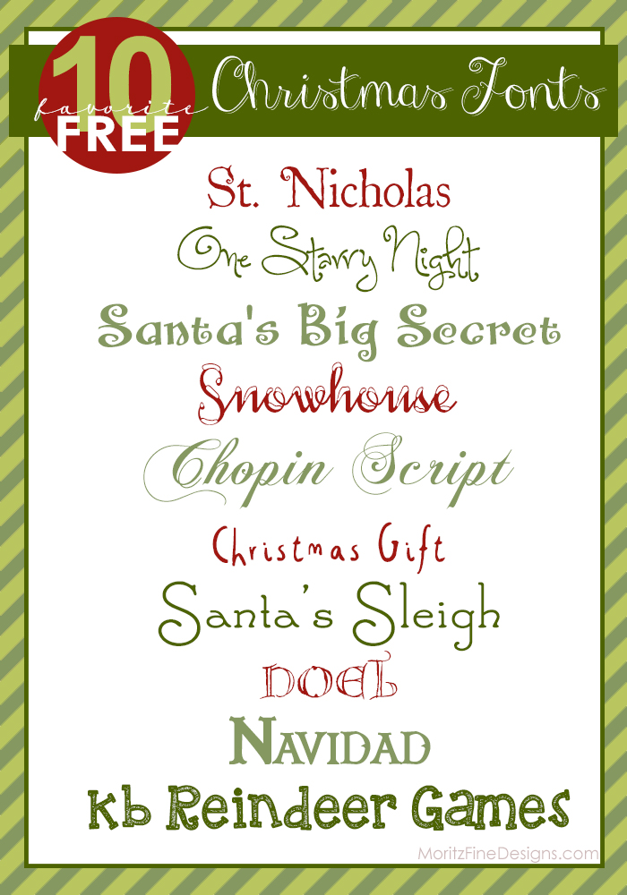 11 Favorite Free Christmas Fonts Images