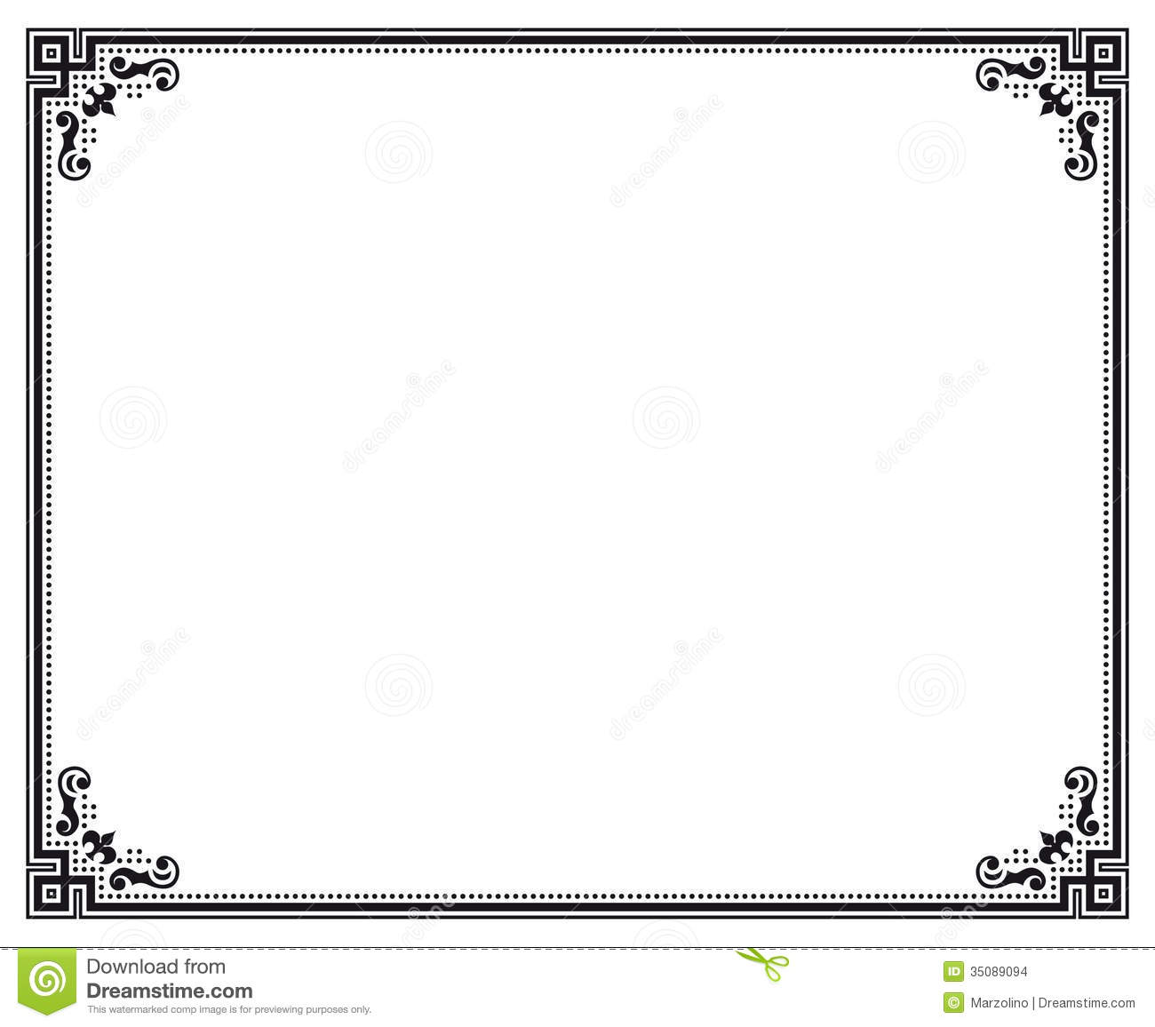 Black and White Certificate Borders