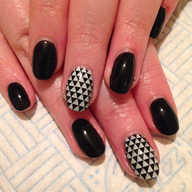 Black and white nail art for short nails choice image nail art black and white nail art for short nails images nail art and nail designs for short prinsesfo Image collections