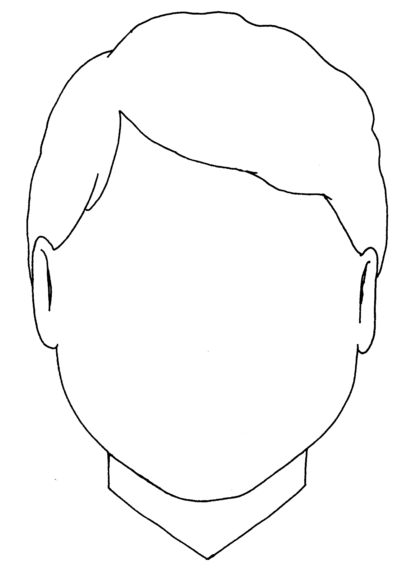 Blank Boy Face Coloring Page