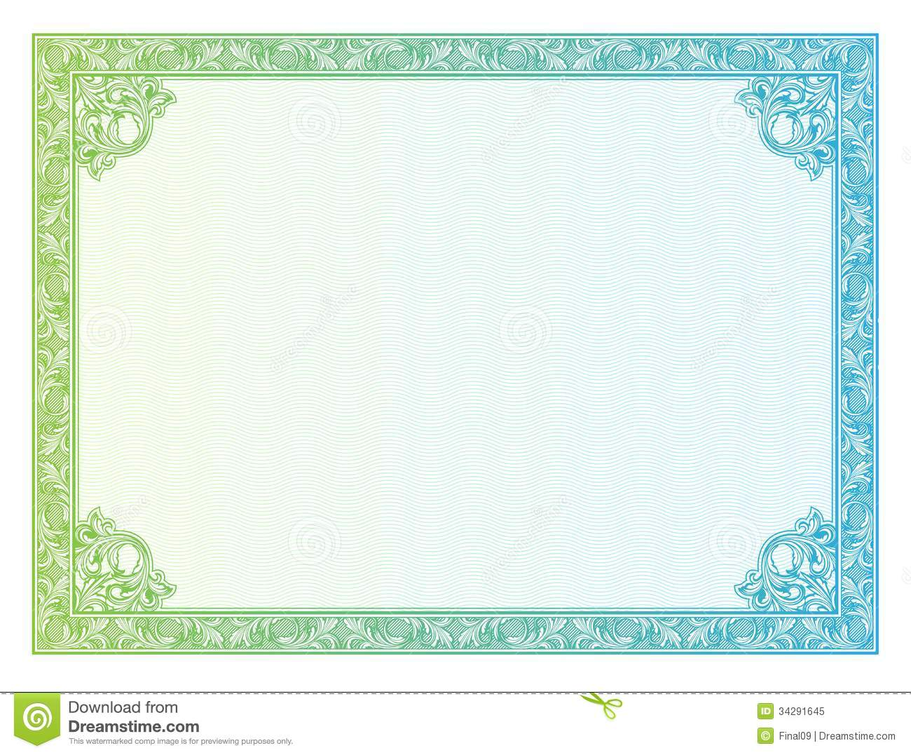 18 Vector Certificate Border Templates Shotgun Images