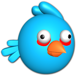 Blue Angry Bird Icon