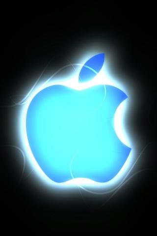 Blue Apple Logo iPhone 5