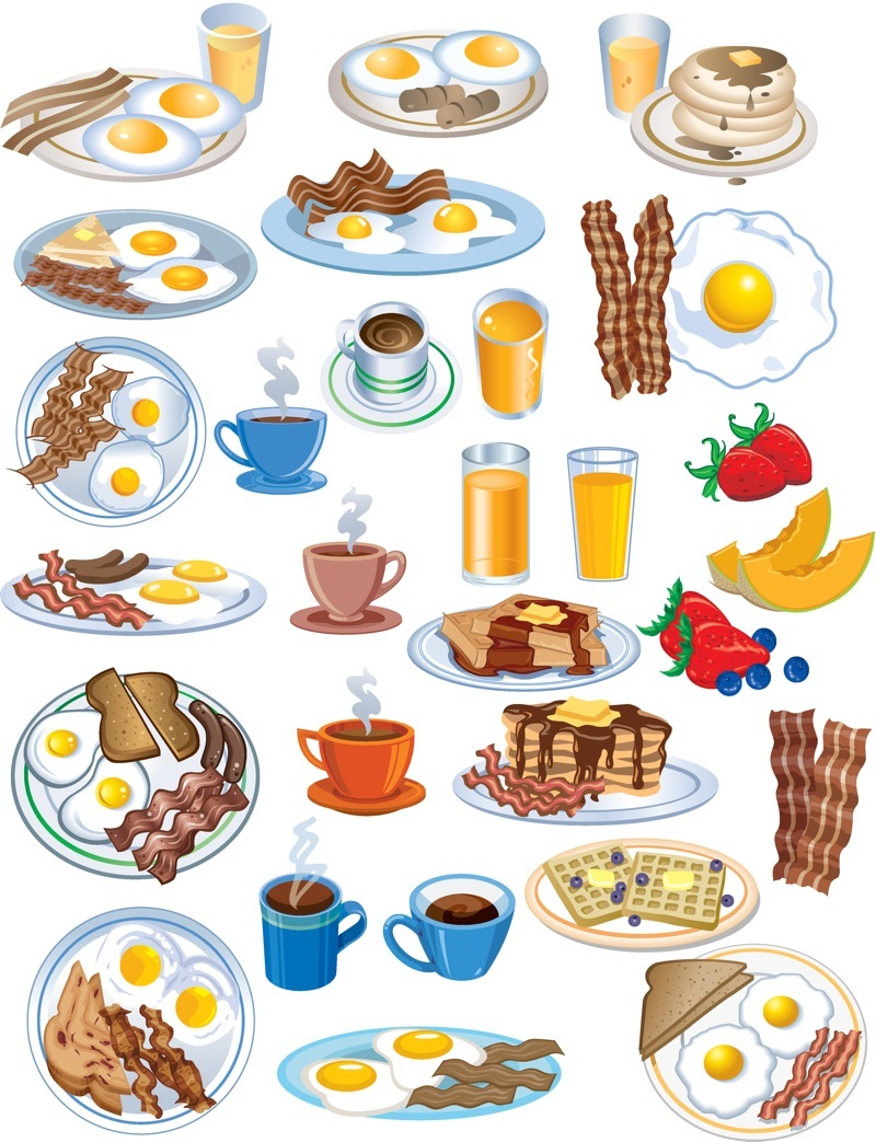 Breakfast Clip Art Free Vector Graphics