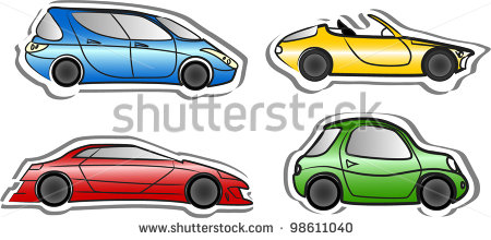 Cartoon Race Cars Templates