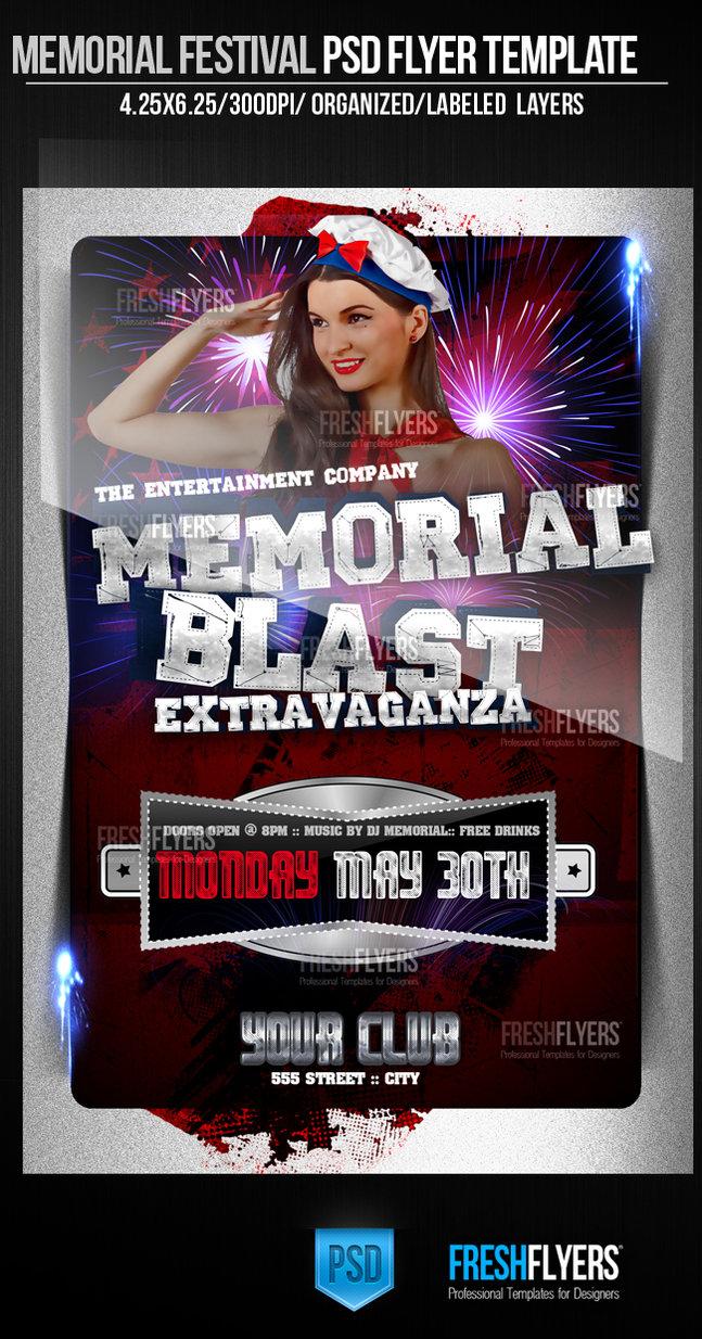 Celebration of Life Memorial Flyer Template