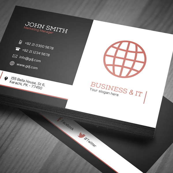 7 Corporate Business Card PSD Images