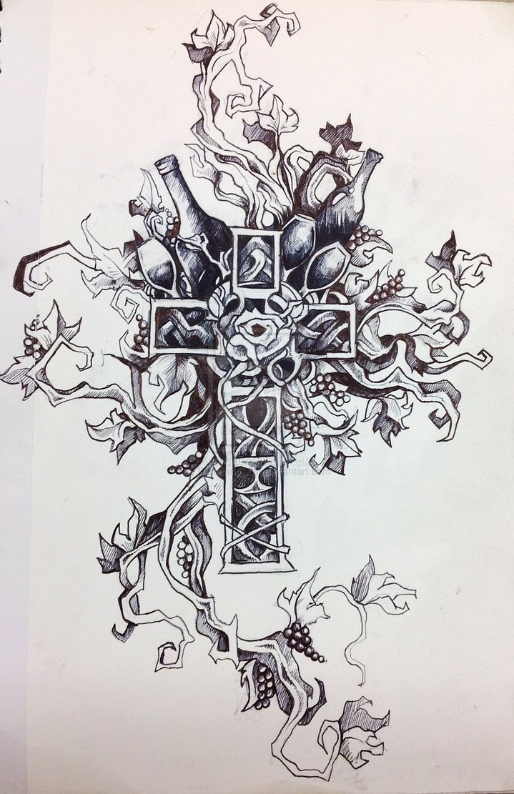 15 pretty flower cross designs images cross with flowers tattoos for women cross tattoo. Black Bedroom Furniture Sets. Home Design Ideas