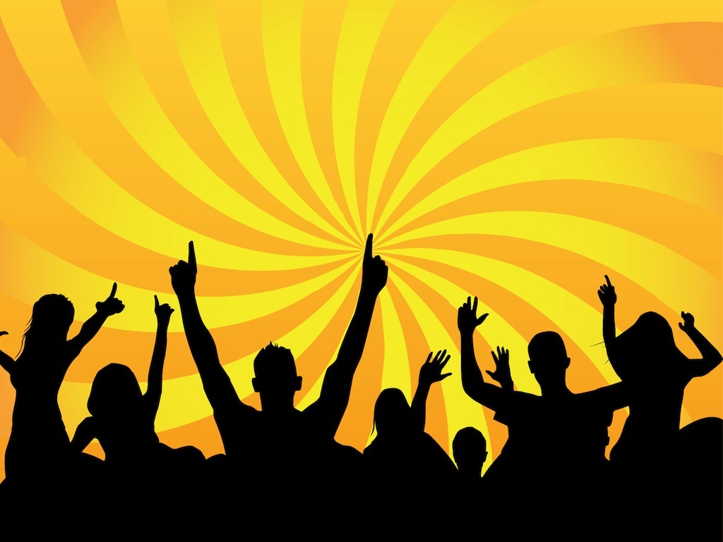 15 Sports Crowd Silhouette Vector Images