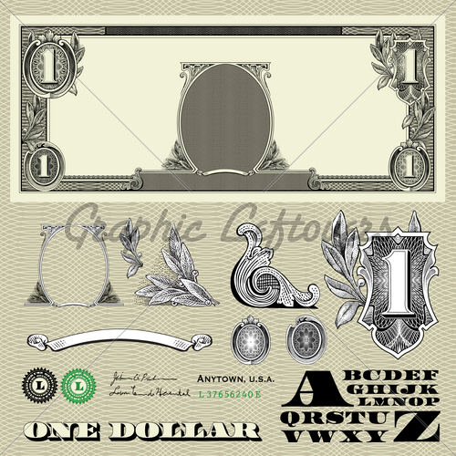 6 Vector Money Elements Images