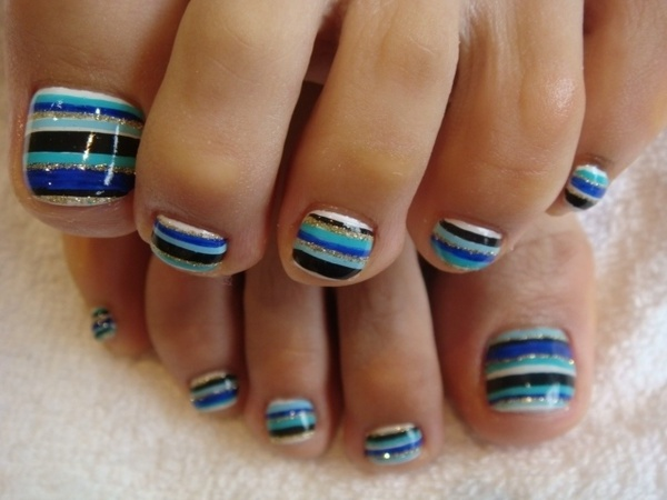 16 Toenail Designs Easy At Home Images