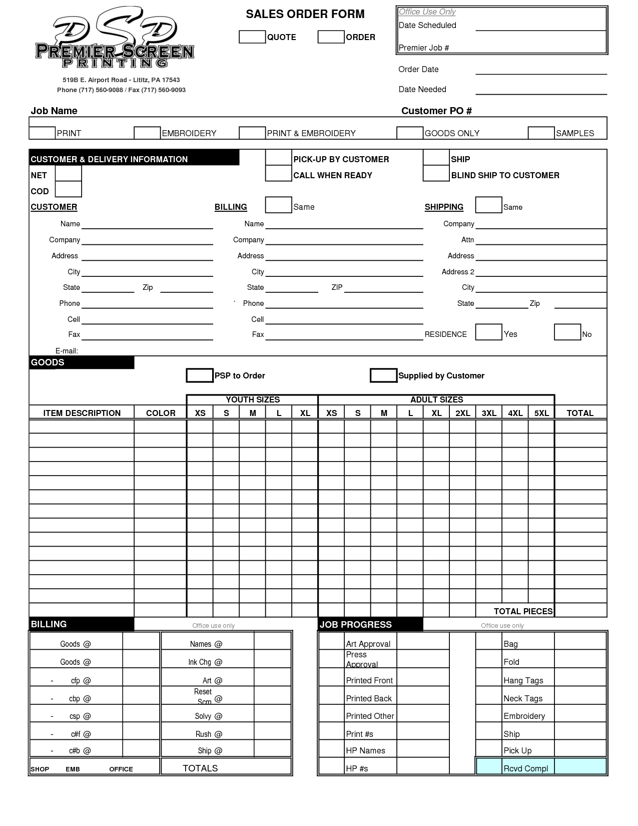 embroidery order form template free - 13 graphic design work order template images work order
