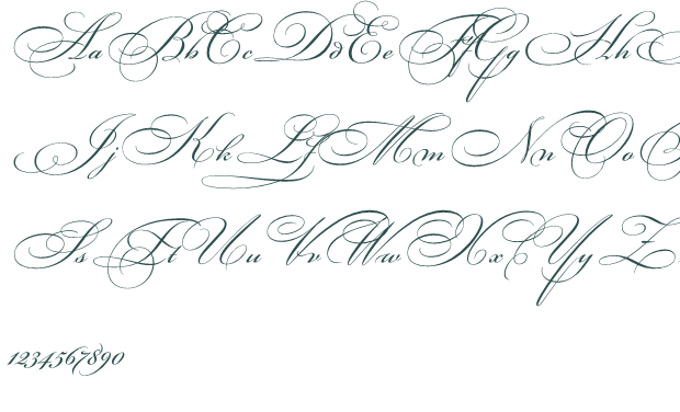 8 Old Fancy Script Fonts Images