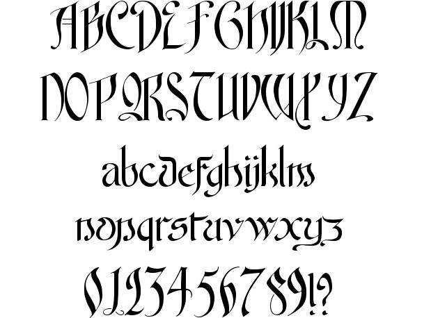 Fancy Old English Fonts