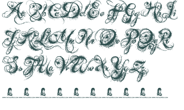 Old English Cursive Font