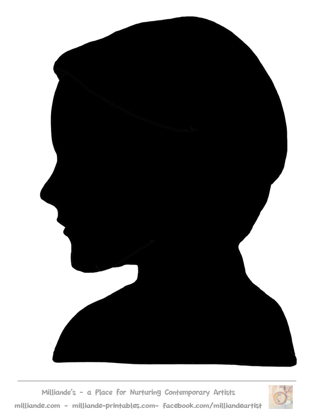 13 Face Silhouette Template Images
