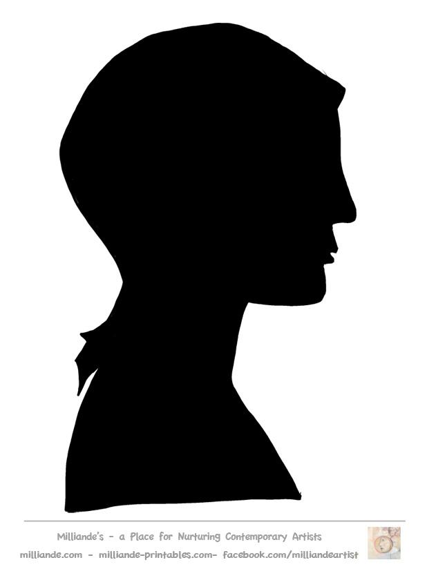 Female Face Silhouette
