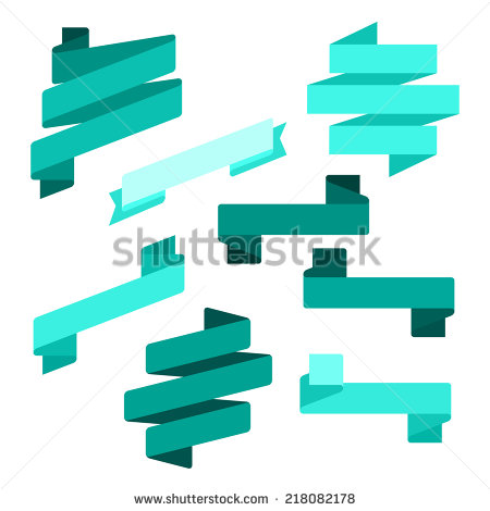 Flat Ribbon Clip Art