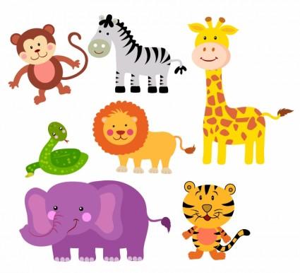 Free Cartoon Safari Animals