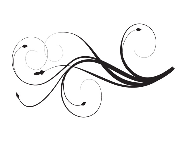 16 Elegant Black Swirl Design Images - Elegant Black and ...