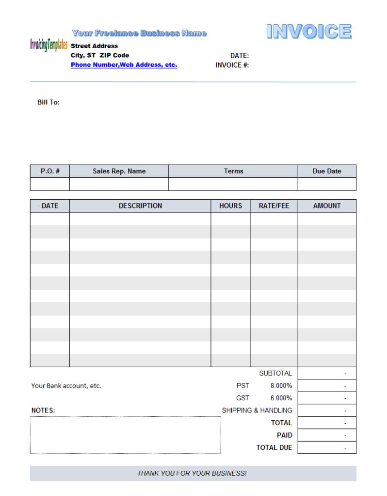 german invoice template