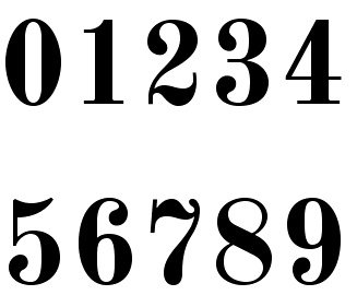 Free Font Styles Numbers