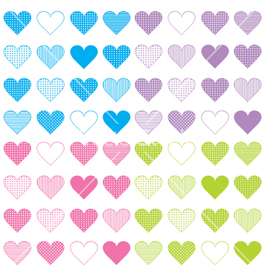 Free Heart Vector Pattern