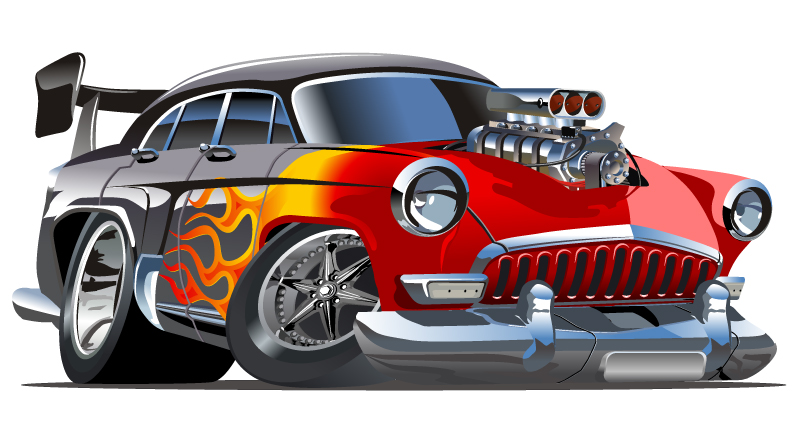 Free Hot Rod Cartoon Cars