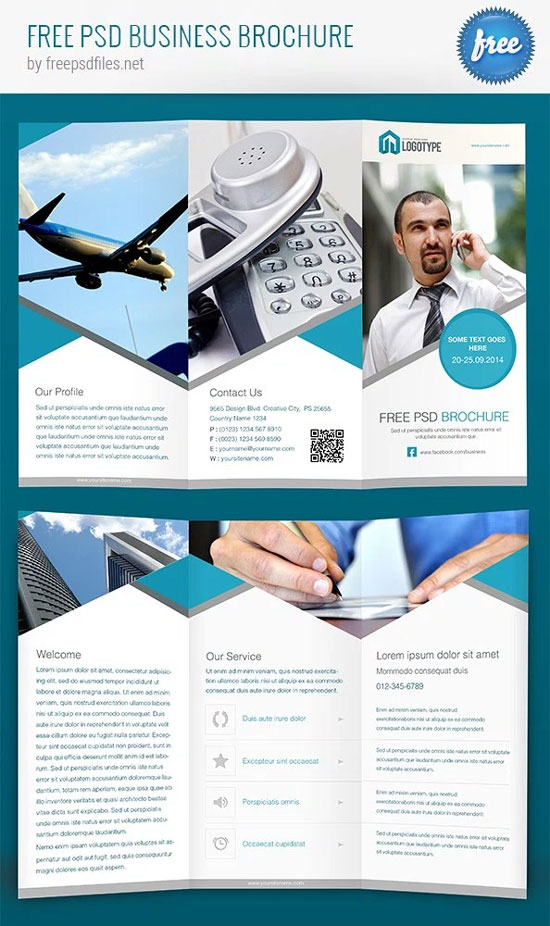 8 free travel flyer templates psd images psd brochure templates free photoshop brochure template accmission Images