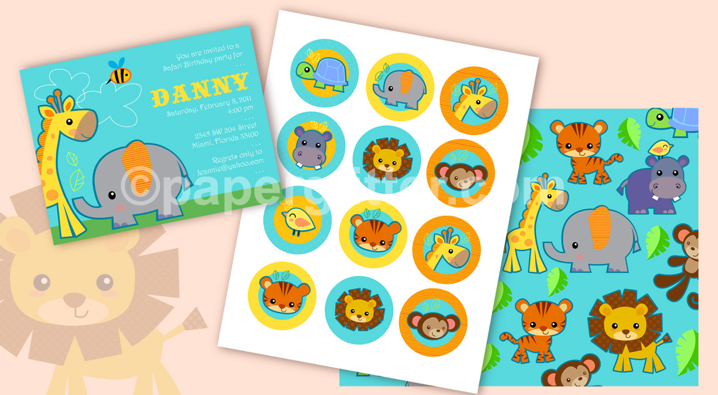 picture about Free Printable Jungle Animals identified as safari pets templates -