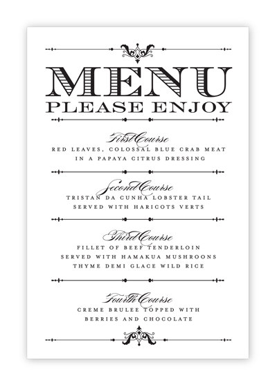 image about Free Printable Menu Templates called 13 Menu Design and style Producer Free of charge Printable Pictures - Pen Ink, Totally free