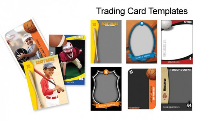 free trading card template images template design ideas