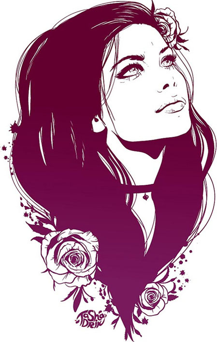 11 Artsy Girl Vector Images