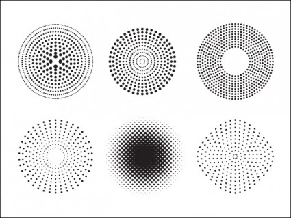5 Splatr With Halftone Dots Vector Images