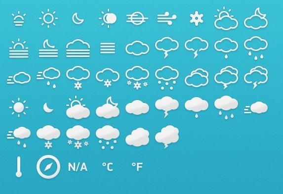 9 Metro Weather Icons Images