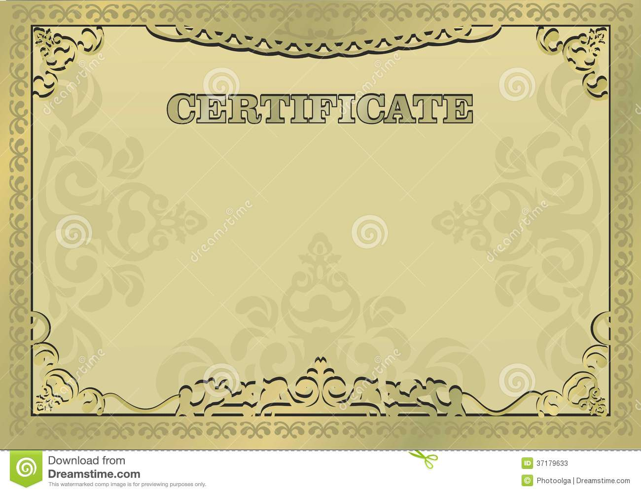 Gold Certificate Borders Vector