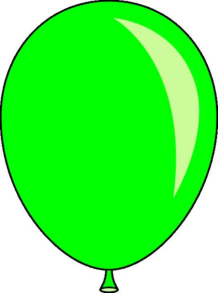 Green Balloons Clip Art