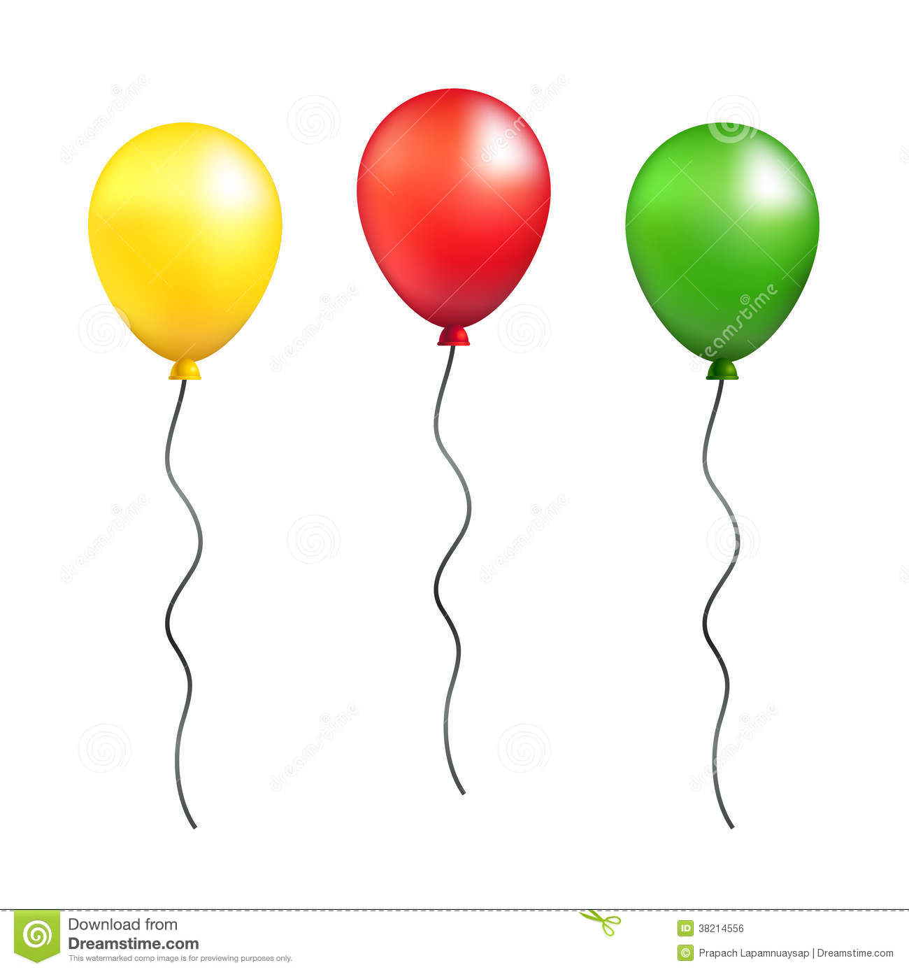 Green Birthday Balloon Vector