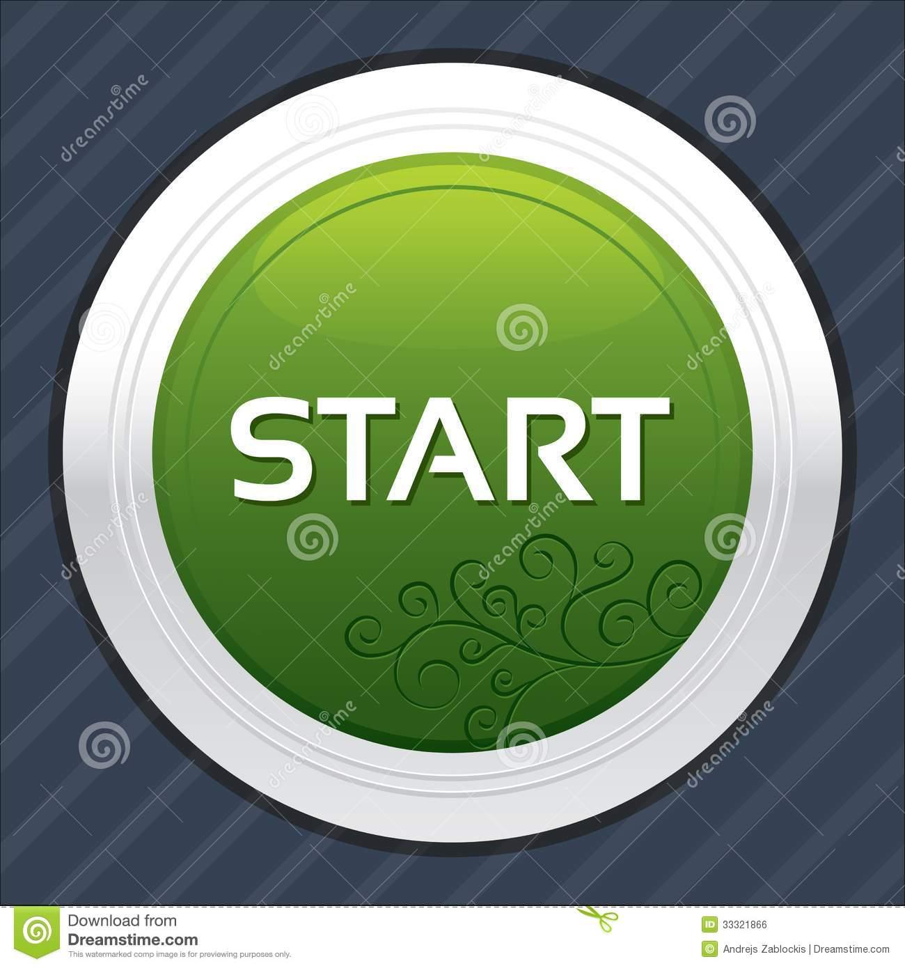 Green Start Button Icon