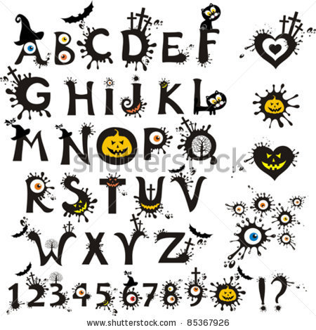 14 Scary Horror Fonts Alphabet Images