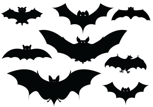 19 Halloween Silhouette Vector Images - Bat Silhouette ...