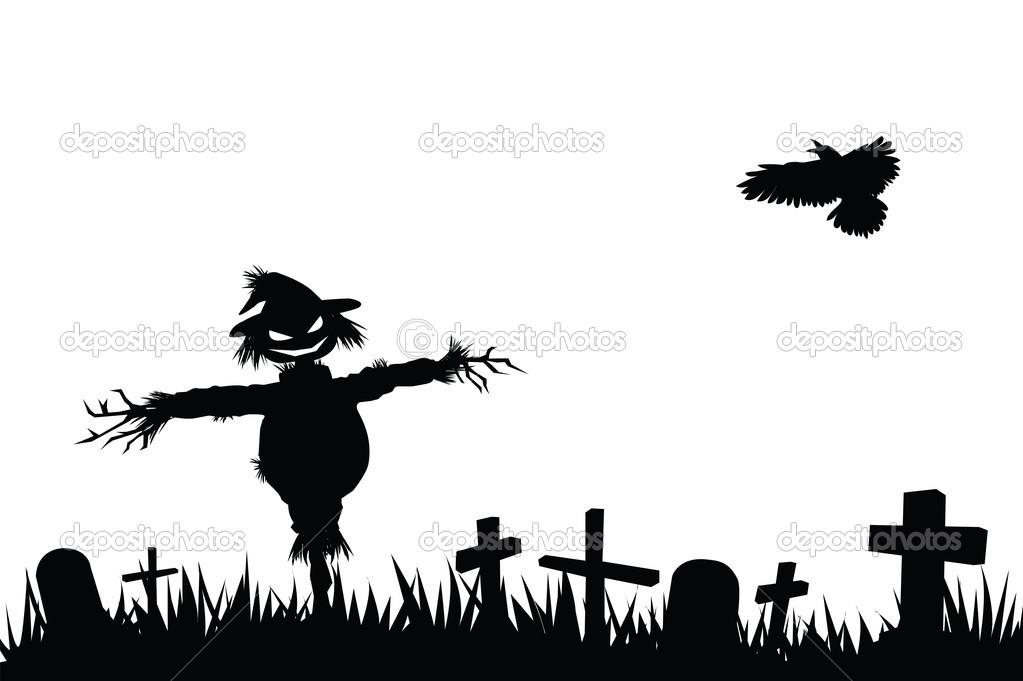 Halloween Graveyard Silhouettes