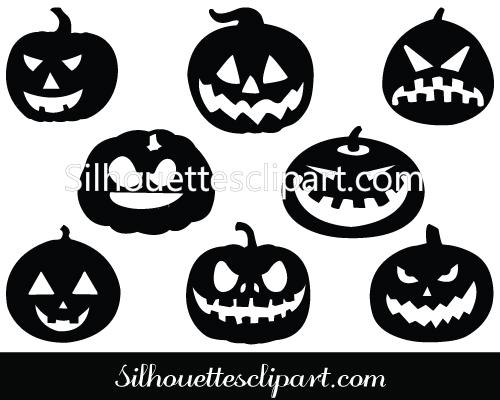 Halloween Pumpkin Silhouette Clip Art