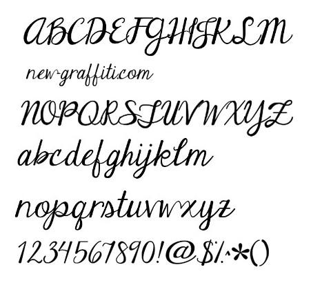 Handwriting Font Styles Alphabet