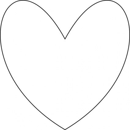 Heart Outline Clip Art Free