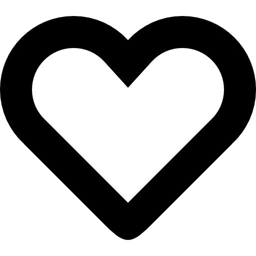 Heart Shape Outline Vector