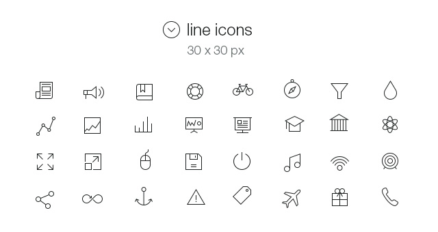 9 IOS 7 Line Icons Images