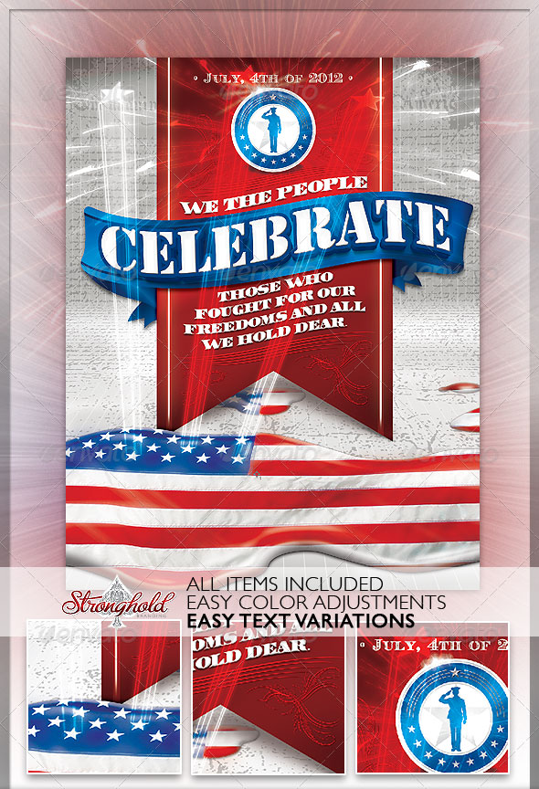 July 4th Flyer Templates Free